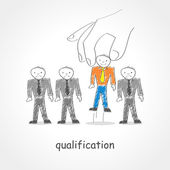 Qualification — Stock Vector
