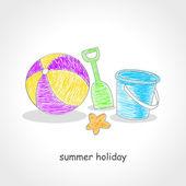 Brinquedos de praia — Vetor de Stock