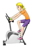 Fitness Bike — Stock Photo
