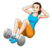 Fitness Sit Up — Stock Photo