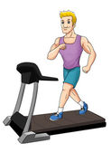Fitness Treadmill — Stock Photo