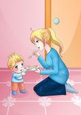 Mère et enfant — Photo