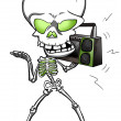 Funky Skeleton — Foto de Stock
