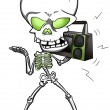 Funky Skeleton — Foto Stock