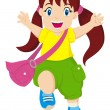 Happy Little Girl — Stock Vector #32513601