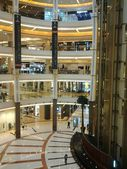 Mall, department store, architecture, interior, design, modern, luxurious, indonesia, shopping, plaza, pacific place jakarta — Stock Photo
