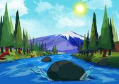 山区河流 — 图库照片