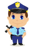 Cartoon Policeman — Stock Vector