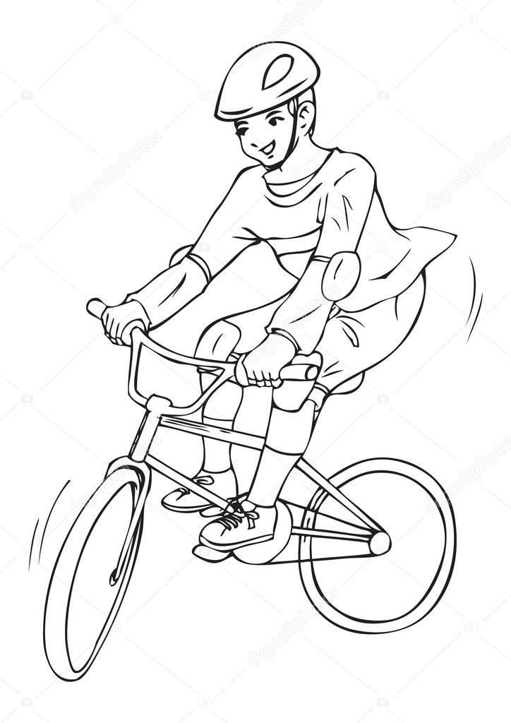 Andar de bicicleta — Vetor de Stock © rudall30 #49505463 Andar En Bicicleta Para Colorear