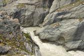 Stream in the rocks — Stock Photo