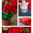 Foto Stock: Flowers and decorations collection
