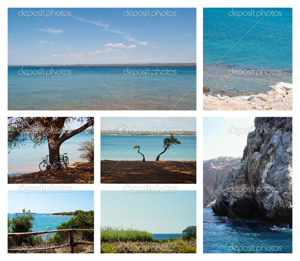 A set of 7 photos of seaviews  Stock Photo #18378163
