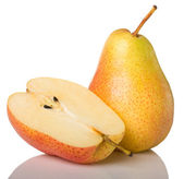 Yellow pear and half — Stock Photo