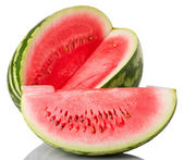 Watermelon and slice — Stock Photo