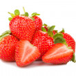 Handful of strawberries — Stockfoto