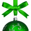Green christmas ball — Stock Photo