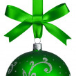 Green christmas ball — Stock Photo #31959959