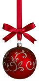 Red christmas bal — Stock Photo