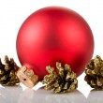 Christmas ball and cones — Stock Photo #31960005