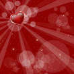 Magic Valentine card — Stock Photo