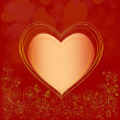 Luxury Red and Gold Valentines greeting card — Stock Photo #12744651