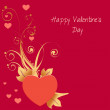 Happy Valentines Day greeting card - Stock Photo