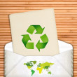 Ecology concept with recycling symbol — Stock Photo