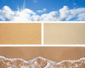 Set of horizontal summer banners — Stock Photo