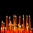 Stock Photo: Burning candles