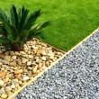 Front Yard Landscape Design - Stock Photo