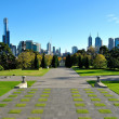 Stock Photo: View of Melbourne from Shrine of Remembrance