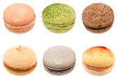 Colorful macarons isolated on white background — Stock Photo