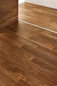 Interior design detail, walls and wooden floor — Stock Photo