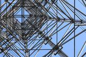 Elektrik yüksek gerilim elektrik pilon — Stok fotoğraf