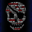Do not be a pirate, concept of internet piracy — Stock Photo