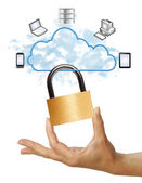 Cloud computing security — Stock Photo