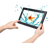 Tablet interactivity and high performance concept — Stock Photo