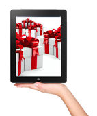 Christmas, x-mas, online shopping concept — Stock Photo