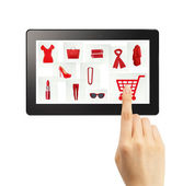 Online gifts ordering — Stock Photo