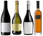 Unlabeled assorted bottles — Stock Photo