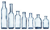 Empty bottles collection — Stock Photo