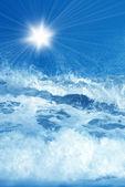 Wave splashing background — Stock Photo