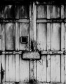 Black and white Old wood window — Stock Photo