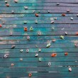 Grunge surface of an artificial rock climbing wall with toe and — Stock Photo
