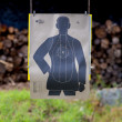 Black human target — Stock Photo