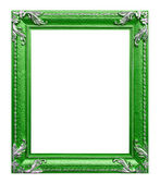 Green photo frame on the white background — Stock Photo