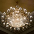 Stock Photo: Elegant crystal chandelier