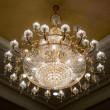 Elegant crystal chandelier — Stock Photo