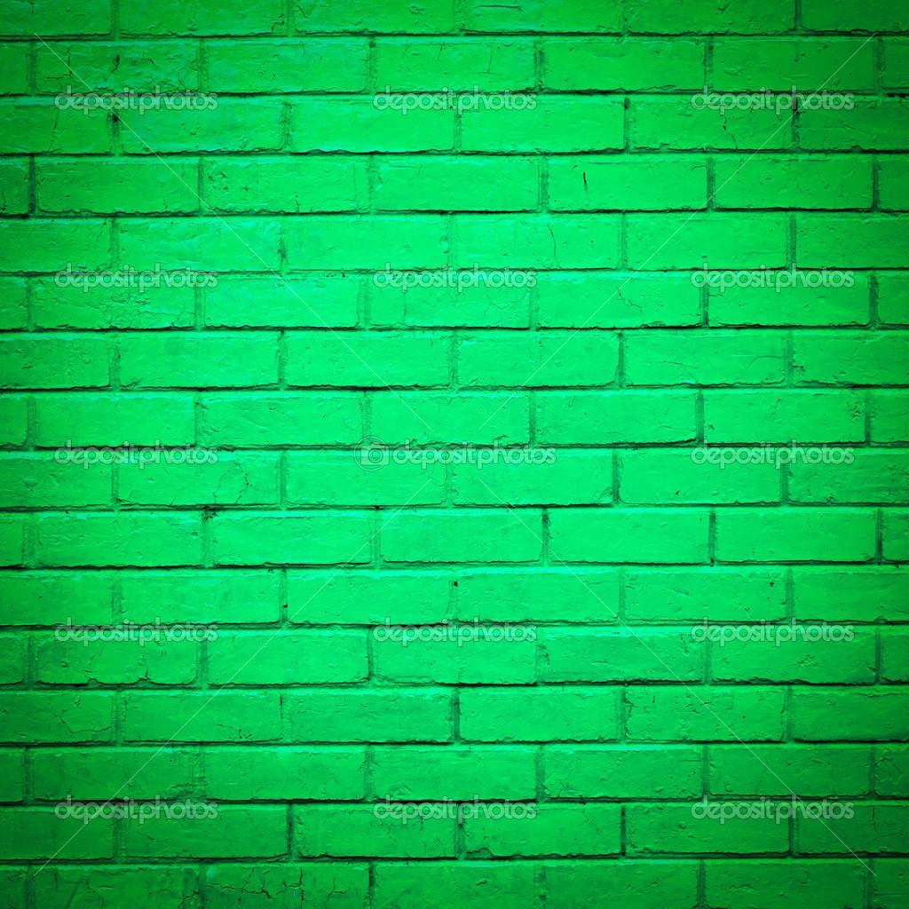 Textura de la pared de ladrillo verde foto de stock - Ladrillos de colores ...