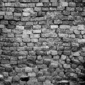 Pared de ladrillo blanco y negro — Foto de Stock